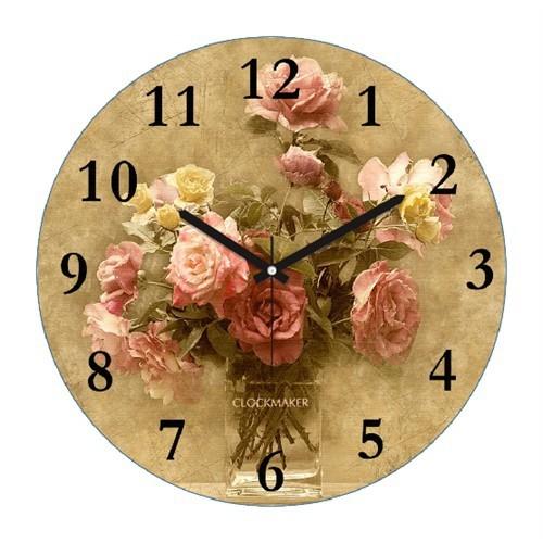 Clockmaker By Cadran Retro Vintage 30X30 Mdf Duvar Saati Cmm157