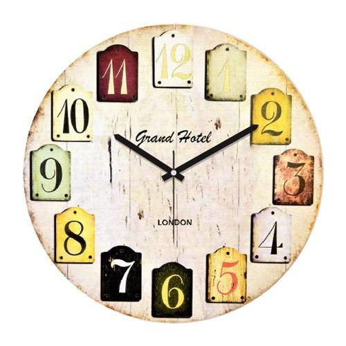 Clockmaker By Cadran Retro Vintage 30X30 Mdf Duvar Saati Cmm17