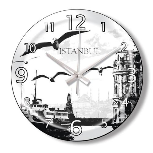 Clocktime By Cadran Dekoratif Bombeli Cam Duvar Saati Ct89