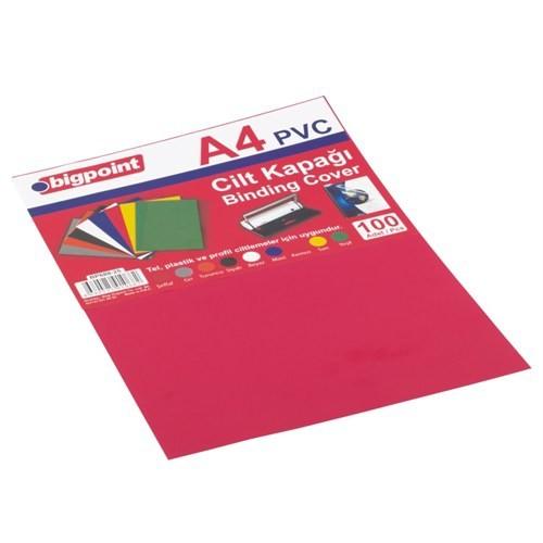Bigpoint Cilt Kapağı A4 Opak Kırmızı 100'Lü Bp68825