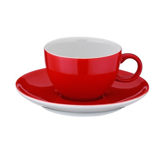Kütahya Porselen 12 Parça Çay Takımı Kırmızı