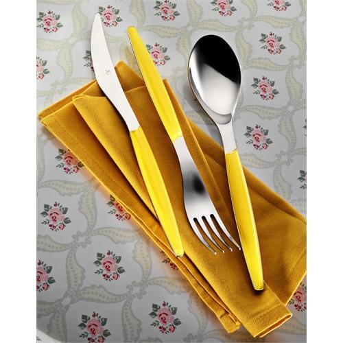 Kütahya Porselen 30 Parça Çatal Kaşık Bıçak Seti Sarı