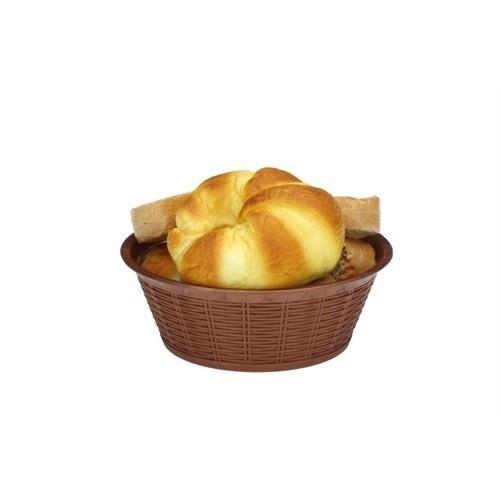 Bora Hasır Desenli Ekmek Sepeti Yuvarlak 23,5 Cm - Bo 661