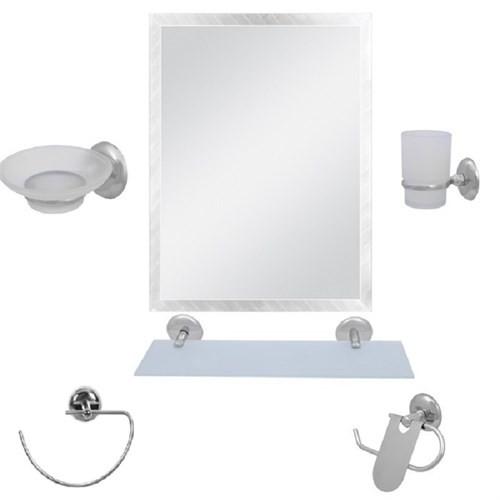 Alper 6 Parça Ayna Seti Kare Ayna