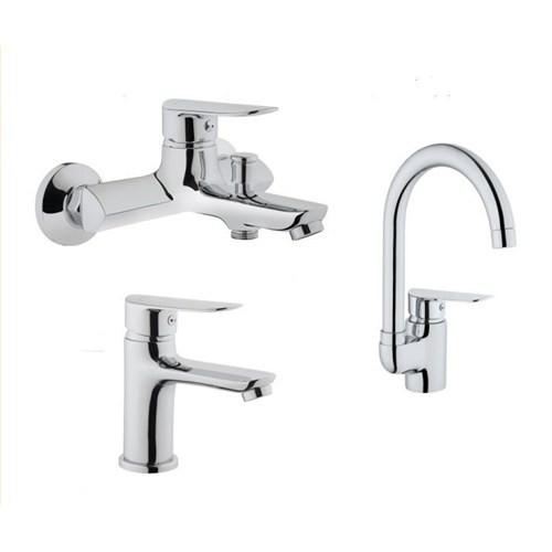Punto Deco Banyo Eviye Lavabo Bataryası Set