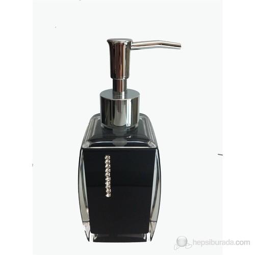 Siyah Taşlı Akrilik Sıvı Sabunluk