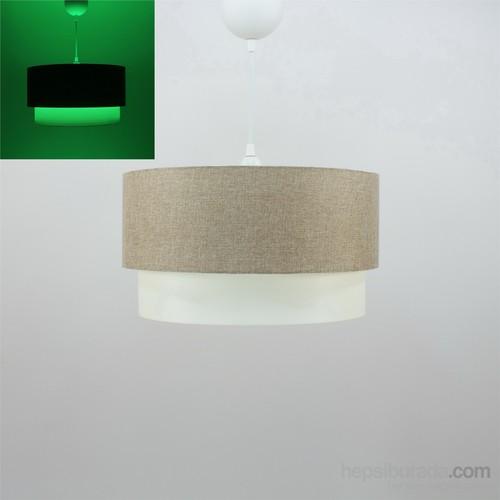 Crea Lighting Fosforix Sarkıt 40 Cm/Keten/Sütlü Kahve