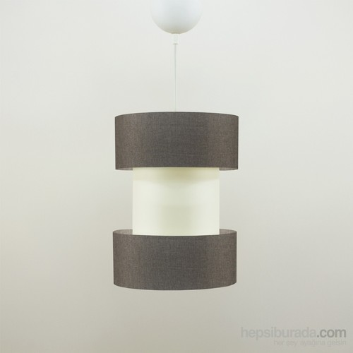 Crea Lighting Doubleshade Twin Sarkıt(20Cm)/Keten/Kahve