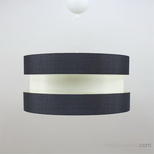 Crea Lighting Doubleshade Twin Sarkıt (40Cm)Keten/Siyah
