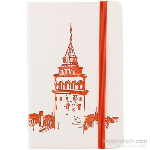 Keskin 9X14 80 Çizgili Renk İstanbul Bloknot (Galata Kulesi)