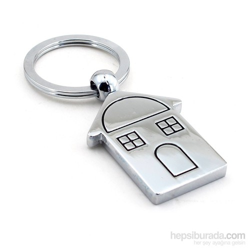 Solfera Home Ev Şeklinde Parlak Metal Anahtarlık Kc589