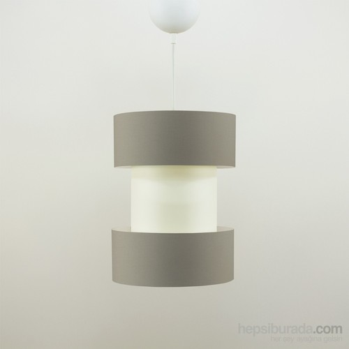 Crea Lighting Doubleshade Twin Sarkıt(20Cm)/Cotton/Sütlü Kahve