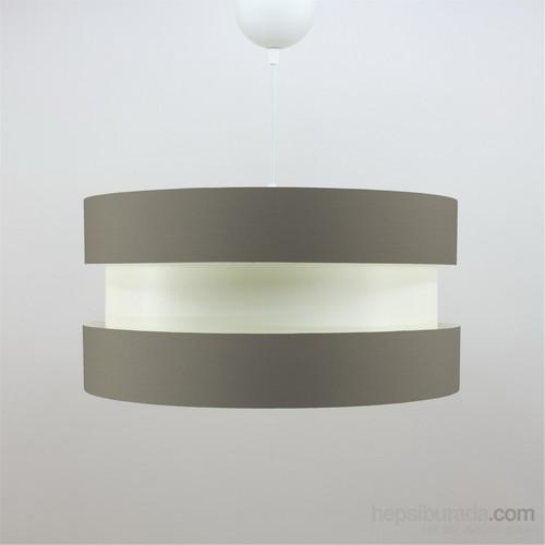 Crea Lighting Doubleshade Twin Sarkıt ( 40Cm)/Cotton/Sütlü Kahve