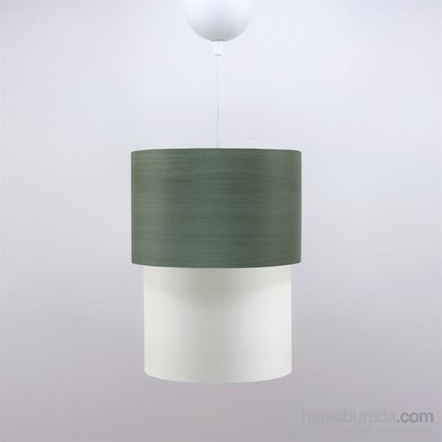 Crea Lighting Doubleshade Small Sarkıt(20Cm)/Wood/Yeşil Armut