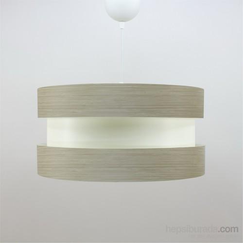 Crea Lighting Doubleshade Twin Sarkıt ( 40Cm )/Wood/Bambu