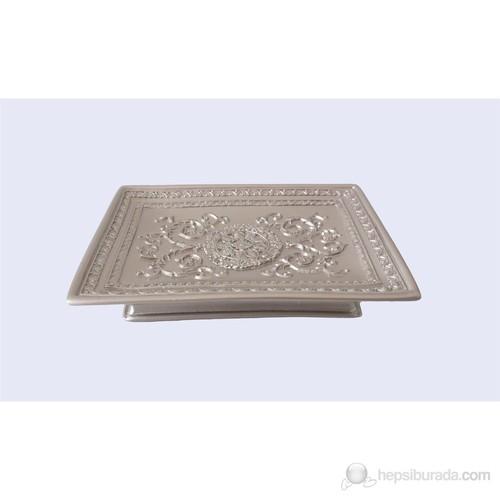 Dekoratif İşlemeli Gümüş Poliresin Sabunluk