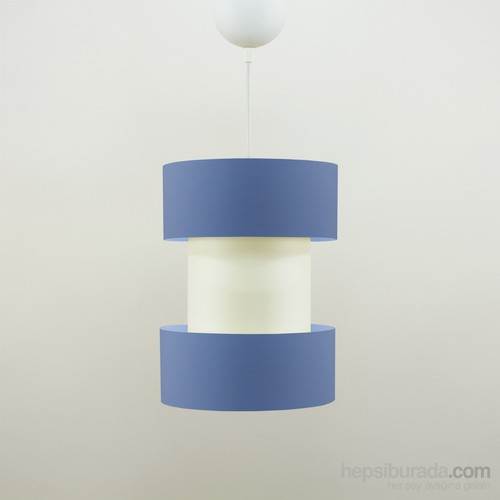 Crea Lighting Doubleshade Twin Sarkıt(20Cm)/Cotton/Mavi