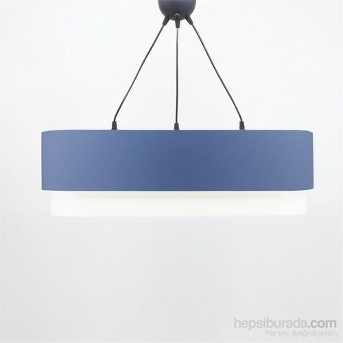Crea Lighting Doubleshade Oval Sarkıt(70Cm-3 Ampul)/Cotton/Mavi