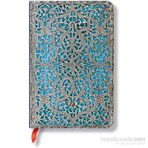 Paperblanks 2566-5 Silver Filigree Mini Çizgili 176 Sayfa Defter