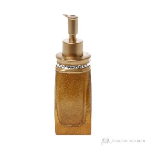 Taşlı Altın Poliresin Sıvı Sabunluk