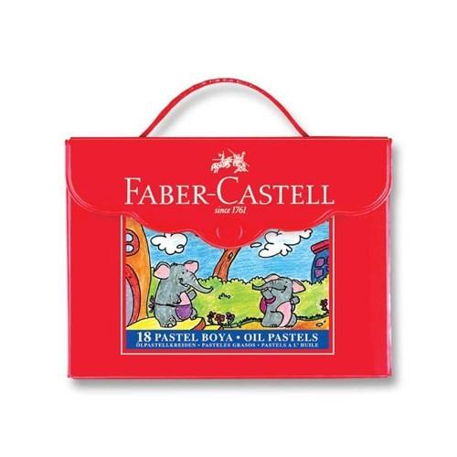 Faber Castell 18 Renk Pastel Boya (Plastik Çanta)125118