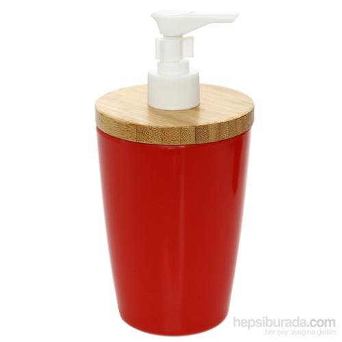 Bosphorus Bambu Kırmızı Melamin Sıvı Sabunluk