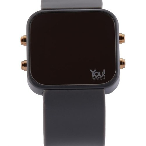 You Watch Gray Buttons Unisex Kol Saati