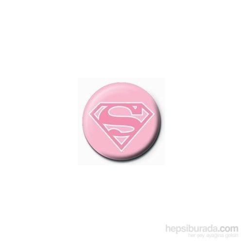 Rozet - Superman - Pink Logo