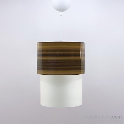 Crea Lighting Doubleshade Small Sarkıt(20Cm)/Wood/Parlak Bambu