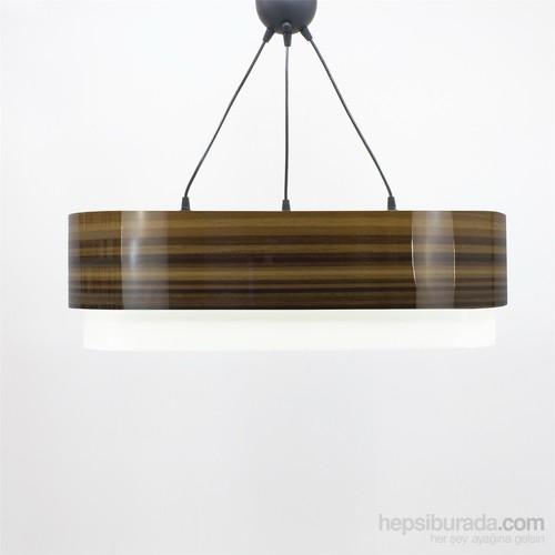Crea Lighting Doubleshade Oval Sarkıt(70Cm-3 Ampul)/Wood/Parlak Bambu