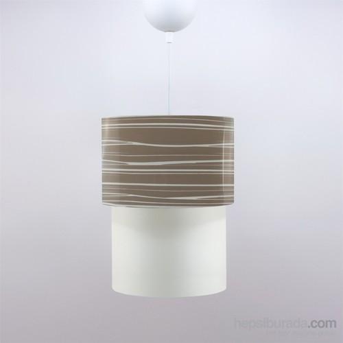 Crea Lighting Doubleshade Small Sarkıt(20Cm)/Pvc/Cappuccino
