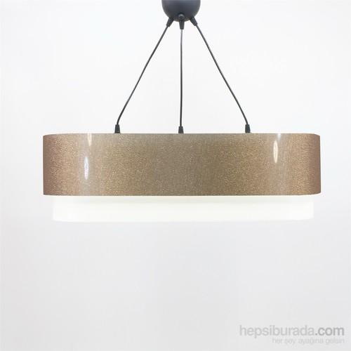 Crea Lighting Doubleshade Oval Sarkıt(70Cm-3 Ampul)/Şeffaf/Bakır