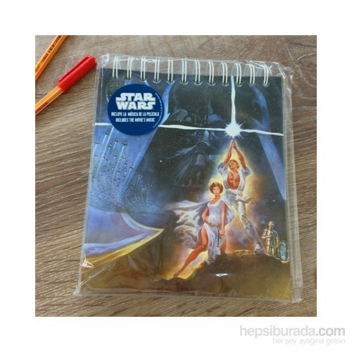 Star Wars Spiral Musical Notebook Müzikal Defter