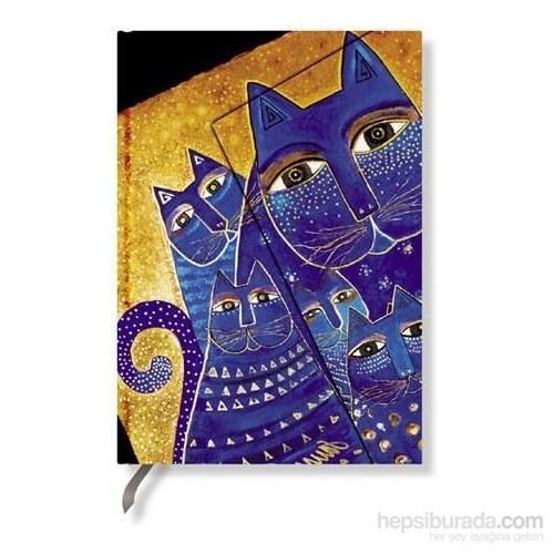 Paperblanks Med. Cats Mini Çizgili - 95X140mm. 478-5 Defter