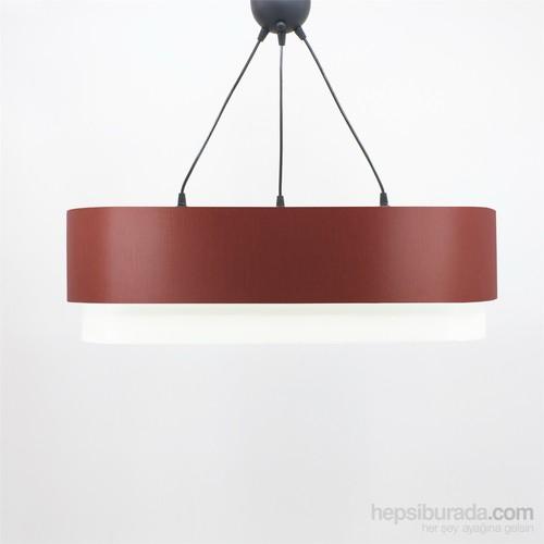 Crea Lighting Doubleshade Oval Sarkıt(70Cm-3 Ampul)/Scala /Bordo