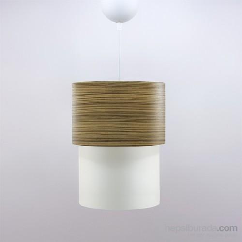 Crea Lighting Doubleshade Small Sarkıt(20Cm)/Wood/Zeytin