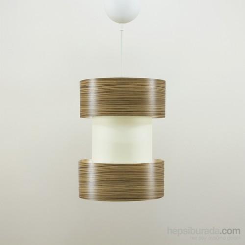 Crea Lighting Doubleshade Twin Sarkıt(20Cm)/Wood/Zeytin