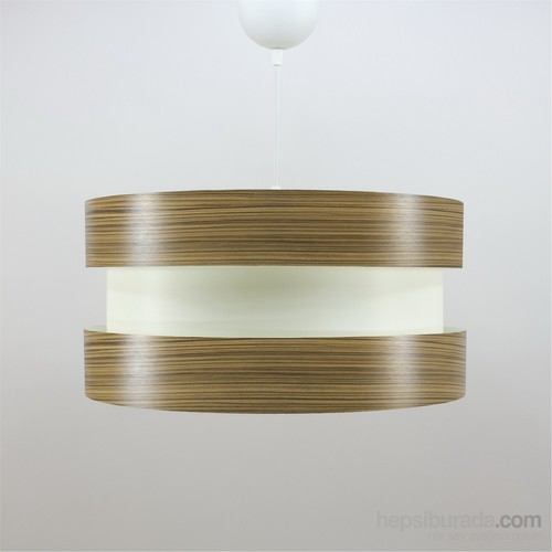Crea Lighting Doubleshade Twin Sarkıt ( 40Cm )/Wood/Zeytin
