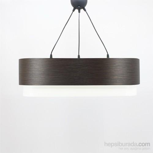 Crea Lighting Doubleshade Oval Sarkıt(70Cm-3 Ampul)/Wood/Alpi