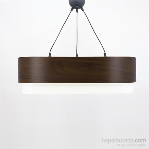 Crea Lighting Doubleshade Oval Sarkıt(70Cm-3 Ampul)/Wood/Betula