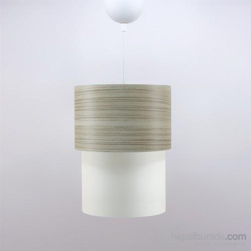 Crea Lighting Doubleshade Small Sarkıt(20Cm)/Wood/Borame