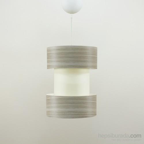 Crea Lighting Doubleshade Twin Sarkıt(20Cm)/Wood/Borame