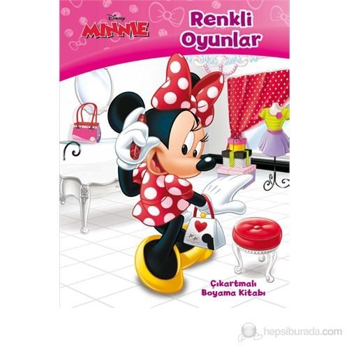 Disney Minnie - Renkli Oyunlar (Çıkartmalı Boyama Kitabı)