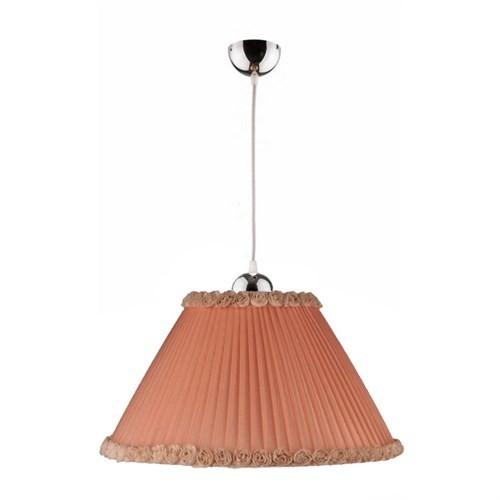 Fivorno Modern Somon Renkli Kahverengi Güllü Organze Kumaş Sarkıt
