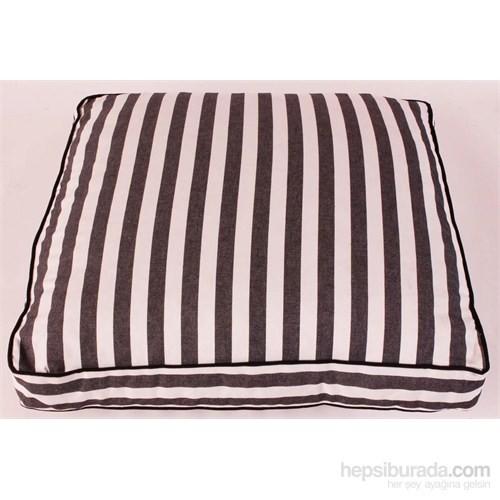 Yastıkminder Koton Siyah Beyaz Çizgili Minder