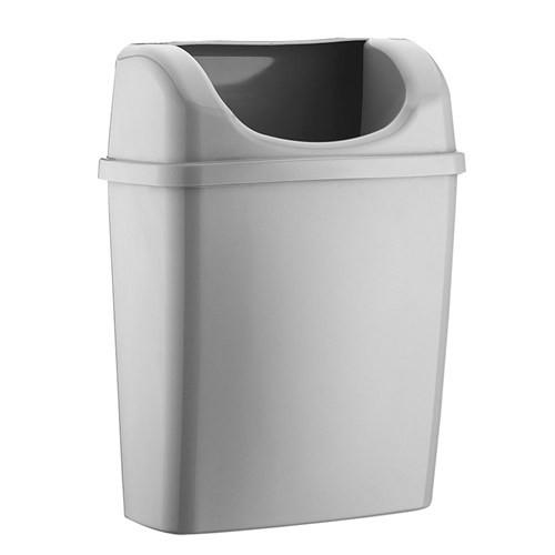 Rulopak Duvara Monte Plastik Çöp Kovası (Gri)