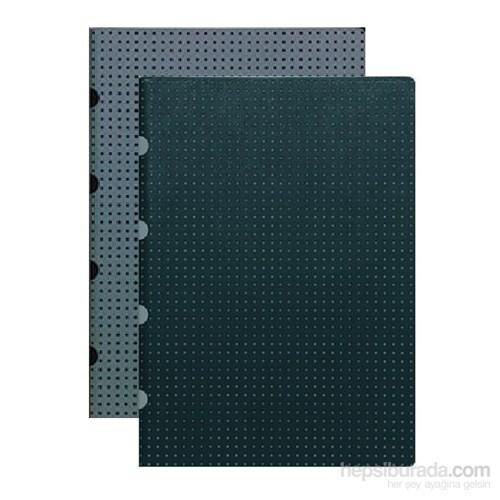 Paper-Oh 9237-7 A4 İkili Kareli B/G-G/B Defter