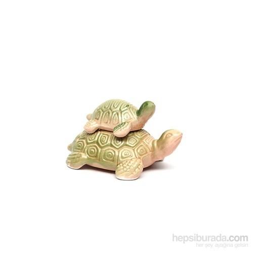 Akvaryum Dekor Yavrulu Kaplumbağa Seramik