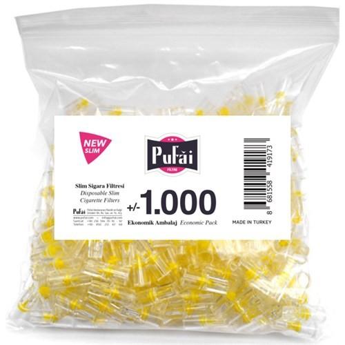 Pufai Disposable Cigarette Filters Slim Economic Pack 1000 – Pufai Tek Kullanımlık Sigara Filtresi Slim 1000 Adet Ekonomik Ambalaj