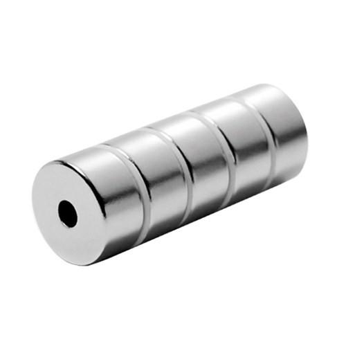 Neodyum Mıknatıs Halka D20xd5x10 mm (2`li Paket)